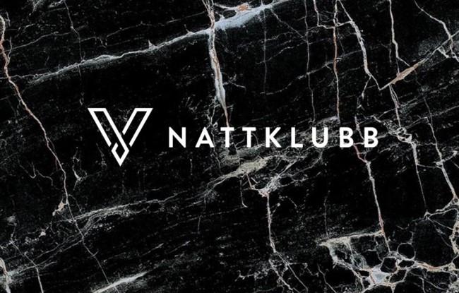 Klubb V svart marmor